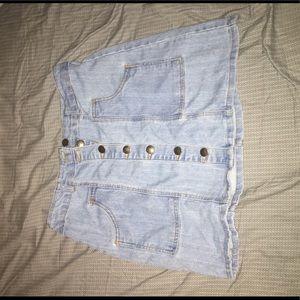 Demin High Waist Pencil Skirt